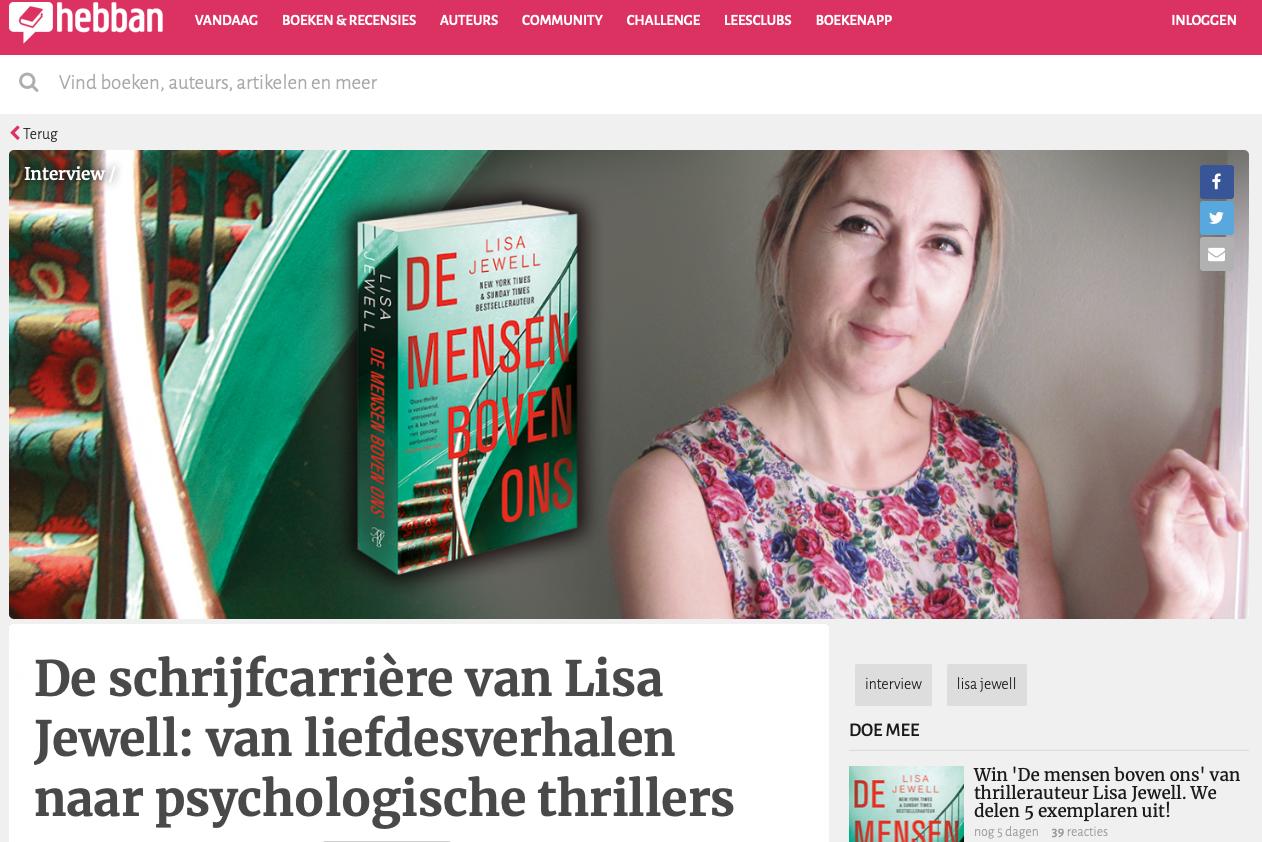 De schrijfcarrière van Lisa Jewell: van liefdesverhalen naar psychologische thrillers