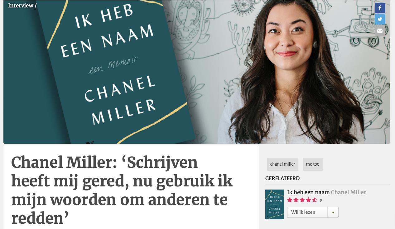 Chanel Miller: 'Schrijven heeft mij gered, nu gebruik ik mijn woorden om anderen te redden'
