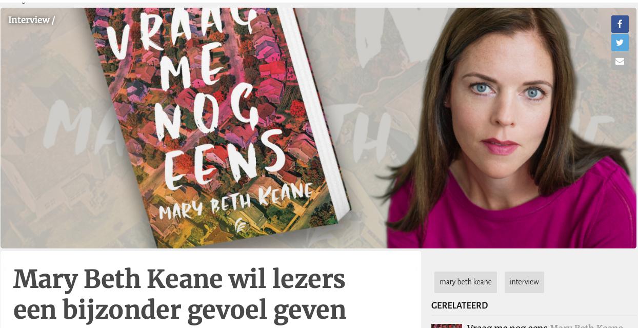 Mary Beth Keane wil lezers een bijzonder gevoel geven