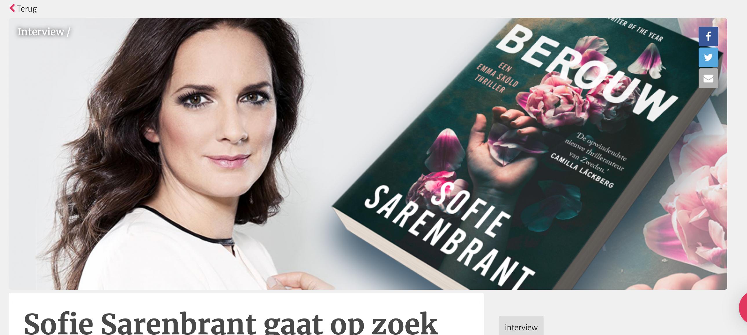 Sofie Sarenbrant gaat op zoek naar de geheimen achter het perfecte plaatje