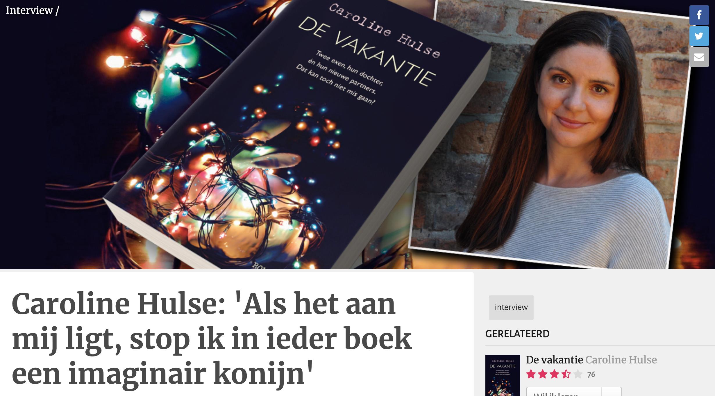 Caroline Hulse: 'Als het aan mij ligt, stop ik in ieder boek een imaginair konijn'