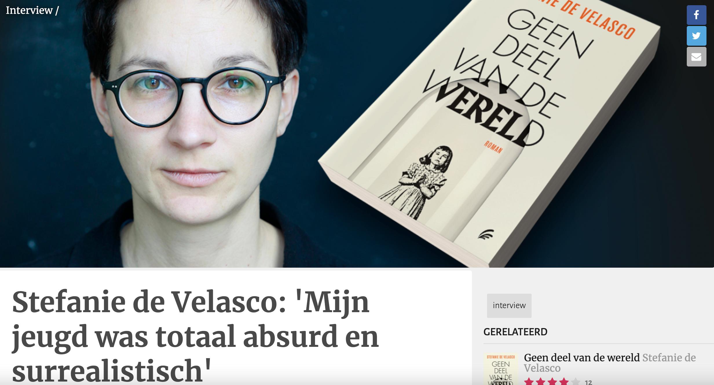 Stefanie de Velasco: 'Mijn jeugd was totaal absurd en surrealistisch'